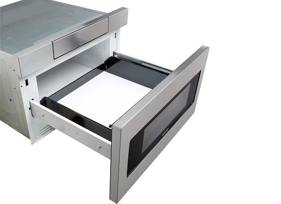 Review sharp smd2470as built in microwave drawer for Built in microwave ovens 30 inch